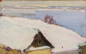 A. Kryvolap The first snow. Lake, 2007, c.о. 50х70