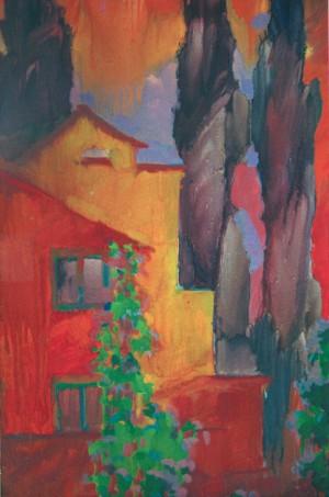 Червоні тополі, 2005, к.о., 60х45
