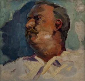 'Father's Portrait', 1958, oil on cardboard
