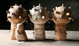 Попова Н. Сад забутих дерев, 2012, глина, поливи, 35х34х23