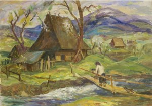 Spring in Verkhovyna, 1990, oil on canvas, 49,5х70