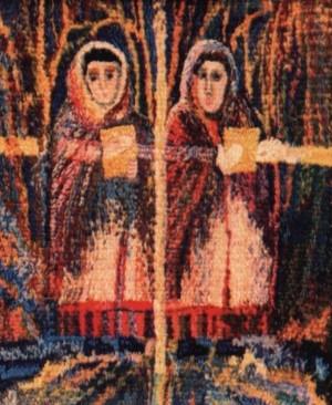 Святість душі, 1997, ручне ткацтво, льон, вовна