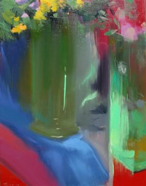 Зелені акценти флейти 2014 п.о.75х60