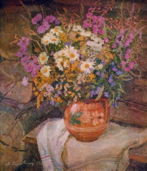 Wildflowers, 1978, oil on canvas