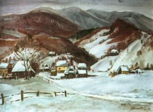 Зима в Синевирі, 1988, 60х80
