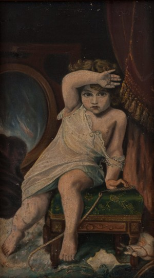 S. Silvai Frightened Child', oil on canvas