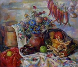 Сільський натюрморт, 2011, п.о., 60х70