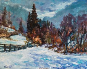 R. Y. Tovt, Winter in the Carpathians