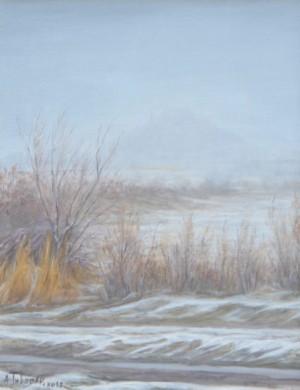 Морозний рнок біля Мукачівського Замку, п.о, 35x27