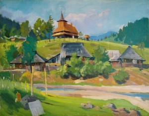 Church In Sil Village, the beginning of the 1960s, oil on canvas, 69,5х89