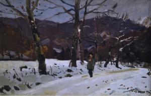 Прогулянка, поч. 1950-х, к.о. 40х59