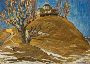 Strukivska Church, 1959-60, oil on paper, 54х74