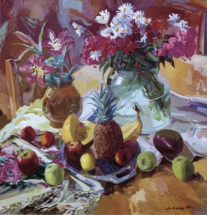 A.Kovach Still life With the Pine Apple, oil on canvas