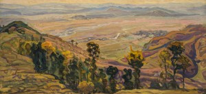 Tereblia Valley, 1960, oil on cardboard, 53х111