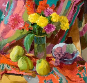 Still life With Quince, 2006, oil on canvas, 60x60