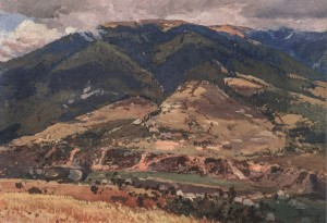 After The Rain, 1952, oil on cardboard, 50x70
