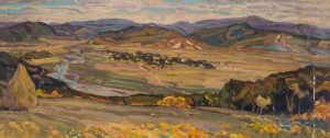 Tereblia Valley, 1962, oil on cardboard, 45,5х99,5