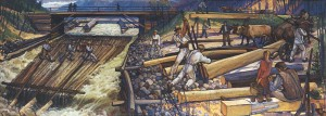 Labor, 1985, oil on canvas, 210x430