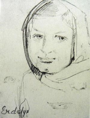 Портрет невідомої, 1940 (Сімейна колекція Уманських)