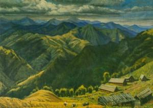 Ферма на полонині, 1958, п.о. 66,5х95,5