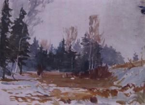 Рання весна, кін. 1950-х, к.о. 25х34,5