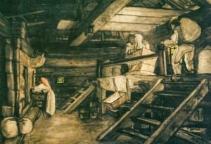 Хліб печуть, 1930-ті рр. п.о. 70х99,5