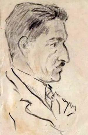 Портрет художника Шандора Петкі, 1950