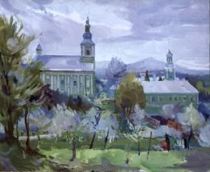 Мукачівський монастир, 2008, п.о., 70х90
