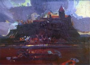 Мукачівський замок, 2008, п.о., 40,5х55,3