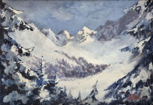 'Winter In The Tatras Mountains', the 1930s, oil on cardboard, 38x54.jpg