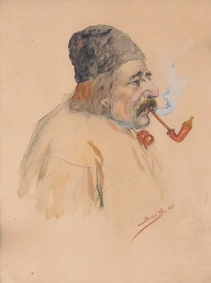 An Old Man With Pipe, 1929