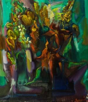 Квітковий натюрморт, 1990-ті, п.о.,  80х69