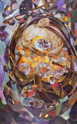 У човнику, 1998, 105х65