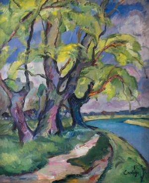 Дерева біля річки (Старі верби), 1930-ті, п.о