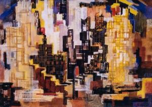 Місто, 2003, пап.паст., 48х69