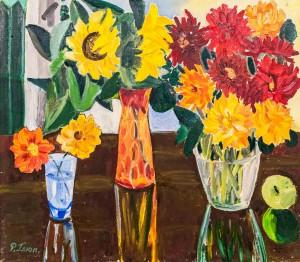 'Dahlia And Sunflowers', 1973