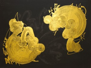 Twins, 2015, acrylic on paper, 60x80