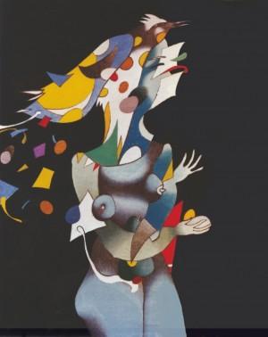 Із циклу «Жiнки i птахи», 1989, п.т., 100х80