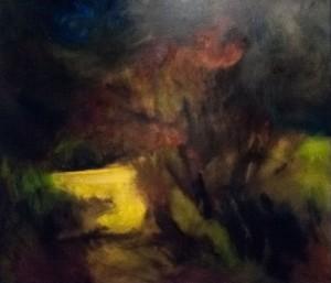 Wild Apple Orchard 1', 2015, oil on canvas