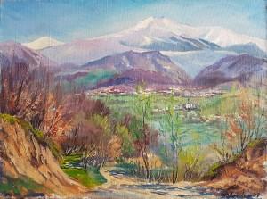 Svaliava Under Stoi Mountain, oil on canvas, 70х80