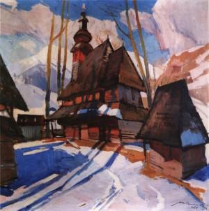 Кашшай А.  Пилипецька церква, 1969, п.о., 110х99