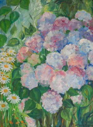 A. Mukhomedianov Hydrangea', 2008, oil on canvas, 60x80