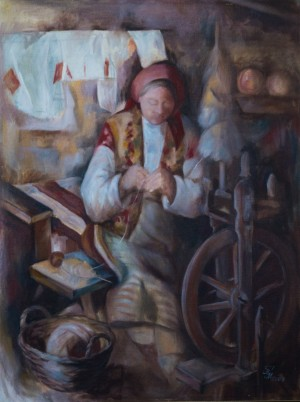 Spinster, 2003, oil on canvas, 60x80