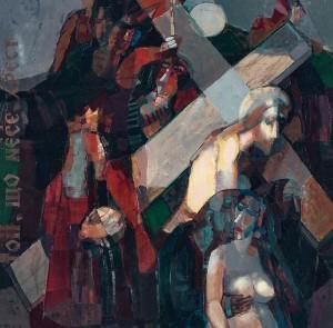 Приходько В.. Голгофа (триптих), Той, що несе трест (ЛЧ), 2000, п.о., 70х70