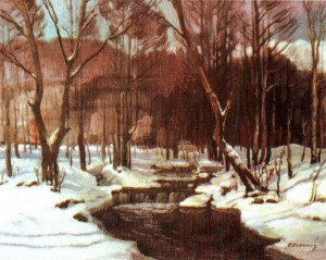 Зима на Ужгородщині, 1980, 60х80