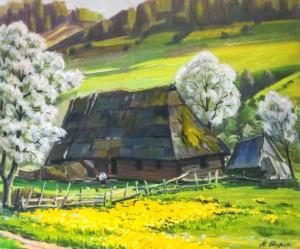 Цвітуть кульбаби, 1987, карт.о., 50х60