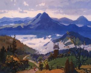 Ранок у горах, 1958, п.о. 84х140