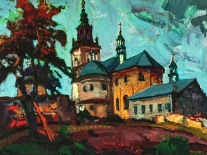 Monastery in Pidkamin, 2010, oil on canvas, 60x80