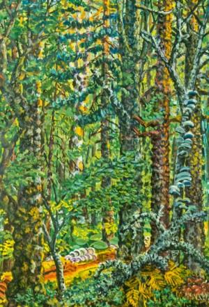 Цілинний ліс, 1968, п.о. 144х98