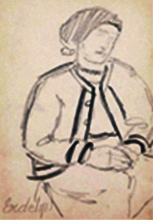 Сторінка з альбому начерків, (Сімейна колекція Уманських)